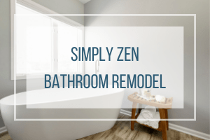 Simply Zen Bathroom Remodeling Project Coon Rapids