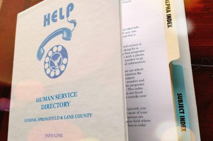 Help Book Human Services Directory: 2018 Edition