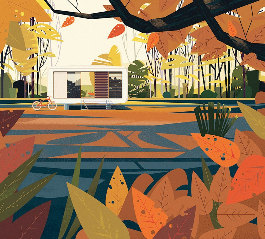 Cabins Taschen Illustratie Marie-laure Cruschi