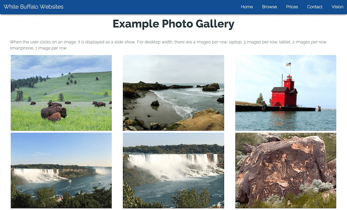 Example Photo Gallery