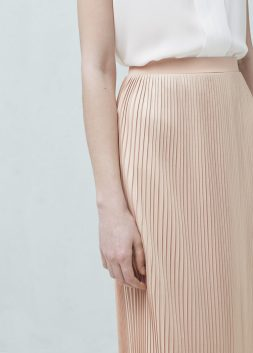 pleasted skirt nude mango