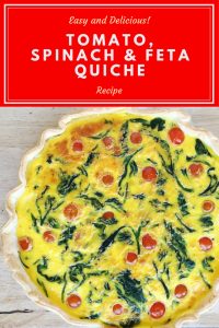 Tomato, Spinach & Feta Quiche Recipe