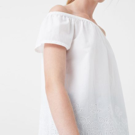 off shoulder white blouse mango uk