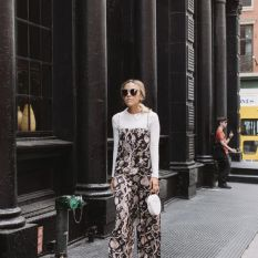 Dansel in Dior Jumpsuit and long sleeve top