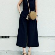 Jumpsuit and round bag