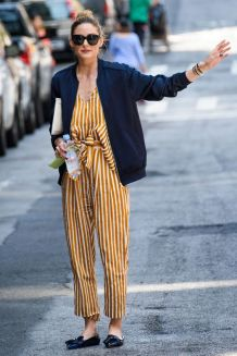 Olivia palermo strippy jumpsuit