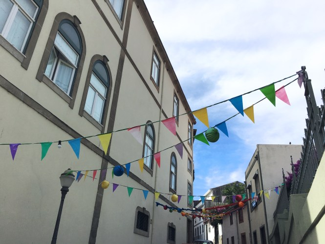 Porto Streets with bunting decorations - São João celebrations