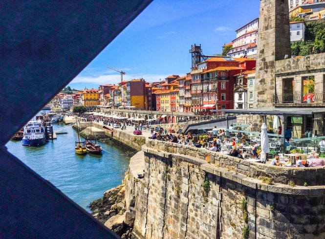 View of Ribeira from Ponte D. Luis I - Porto, Portugal