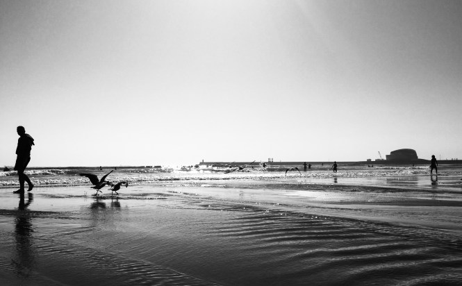Beach photography - black & white