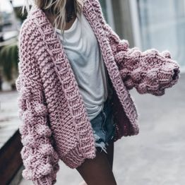 transition summer to autumn wardrobe - chunky knit
