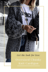 Get the look for less- Oversized Chunky Knit Cardigan