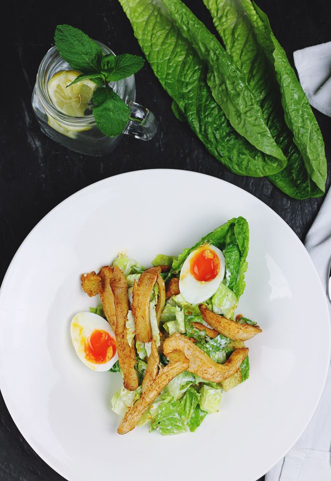 change your relationship with food for the better - healthy dinner - chicken, egg and salad