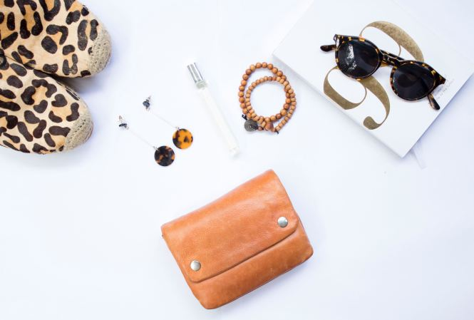 flatlay with sunglasses
