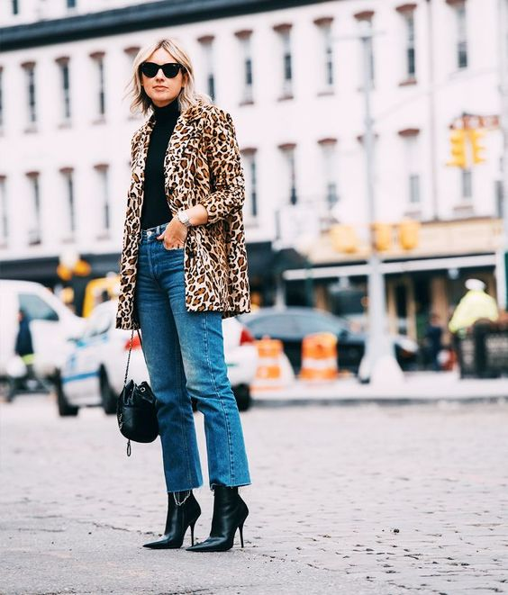 jeans and animal print