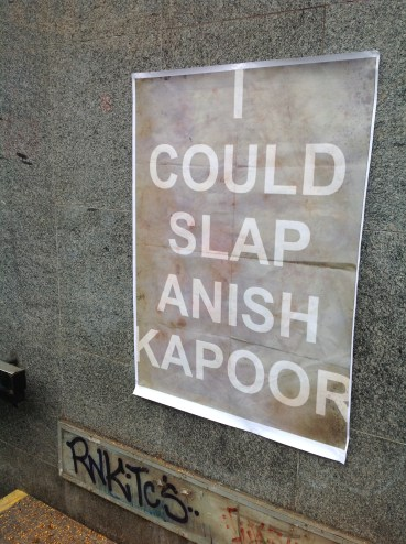 Slap Anish Kappor. Fly poster Prague 2014