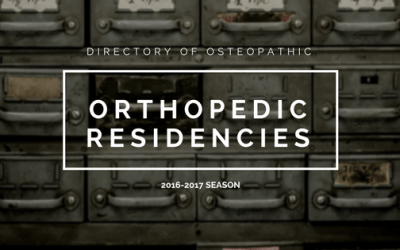 Osteopathic Orthopedic Residency Directory Post