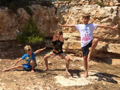 Lukas, Alex, and Sam in Mallorca