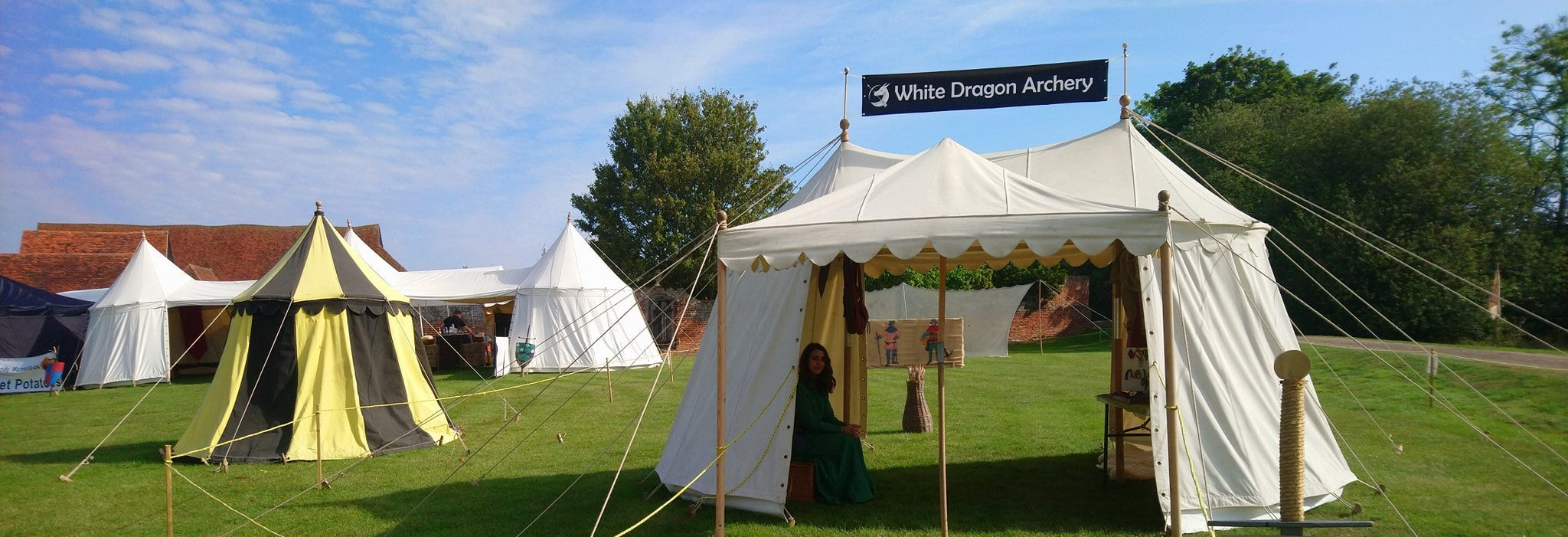 Mobile archery range at a medieval re-enactment fayre