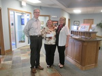 White Eagle presented Jennifer Rose of Peace Connections Kids Summer Food Program a donation of $5000 to help with the summer food program on Tuesday, May 9, 2017.