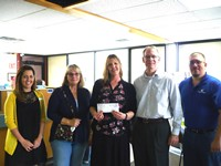 White Eagle presented generous donations to the Butler Homeless Initiative on Thurdsay, May 4, 2017