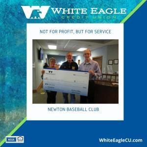Newton Baseball Club receives 2021 WECU Donation