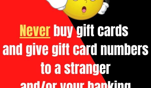 Gift Card Scam Awareness