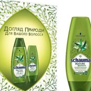 Подарочный набор Schauma шампунь для волос 250 мл + Кондиционер для волос 200 мл Olive Oil&Aloe Vera