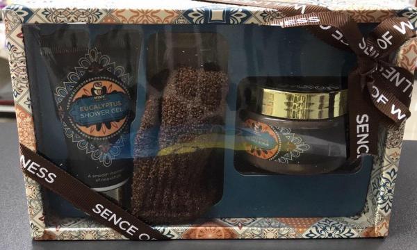 Подарочный набор Sence Of Wellness (гель для душа 50 гр+соль для ванн150гр+ перчатка)