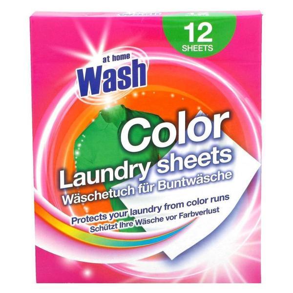 Салфетки для стирки белья At Home Color Laundry Sheets 12 шт