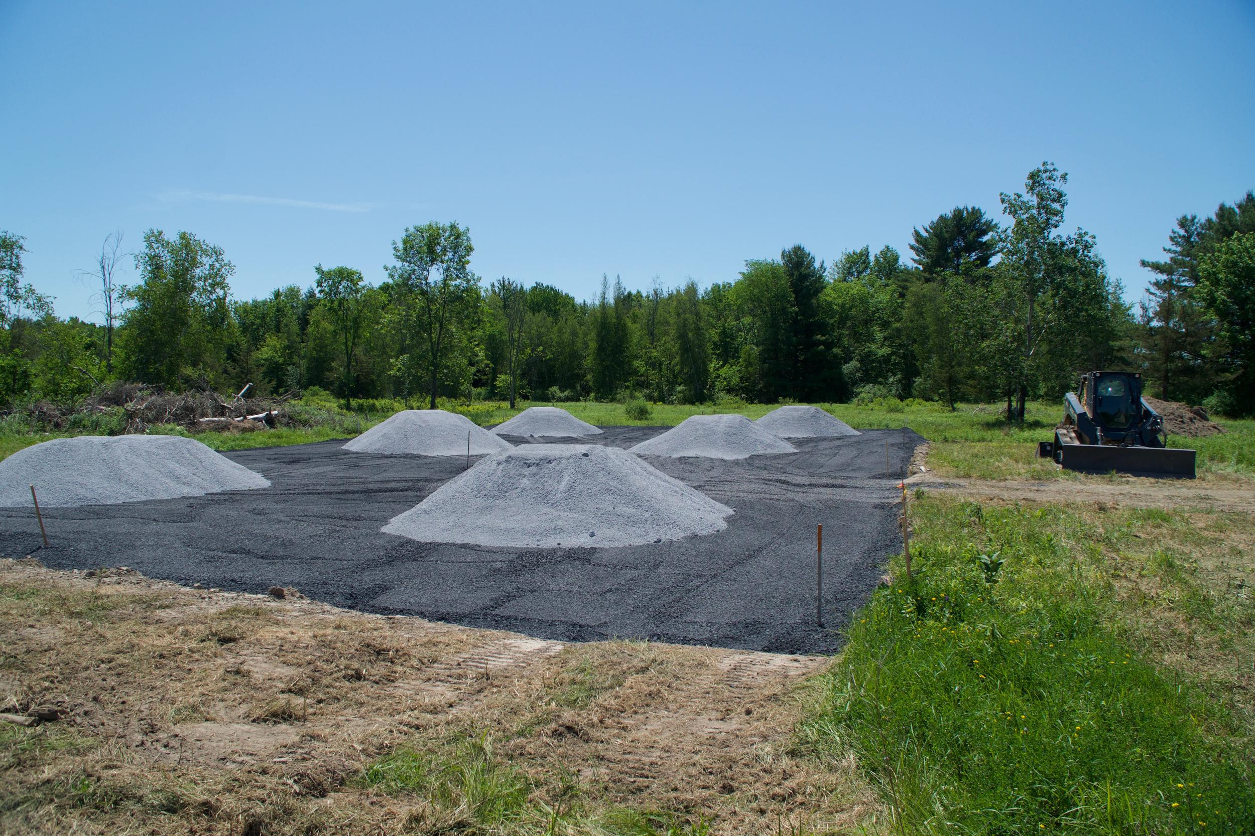 sitework gravel pour