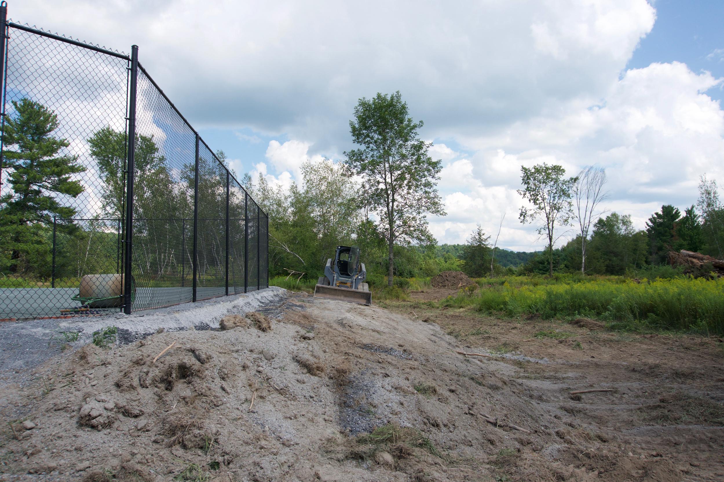 sitework on tennis court