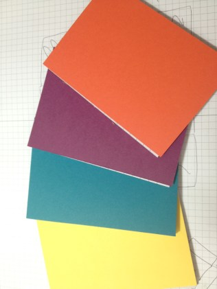 Covered Notebooks with Cardstock
