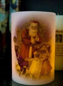 No Flame Christmas Candle