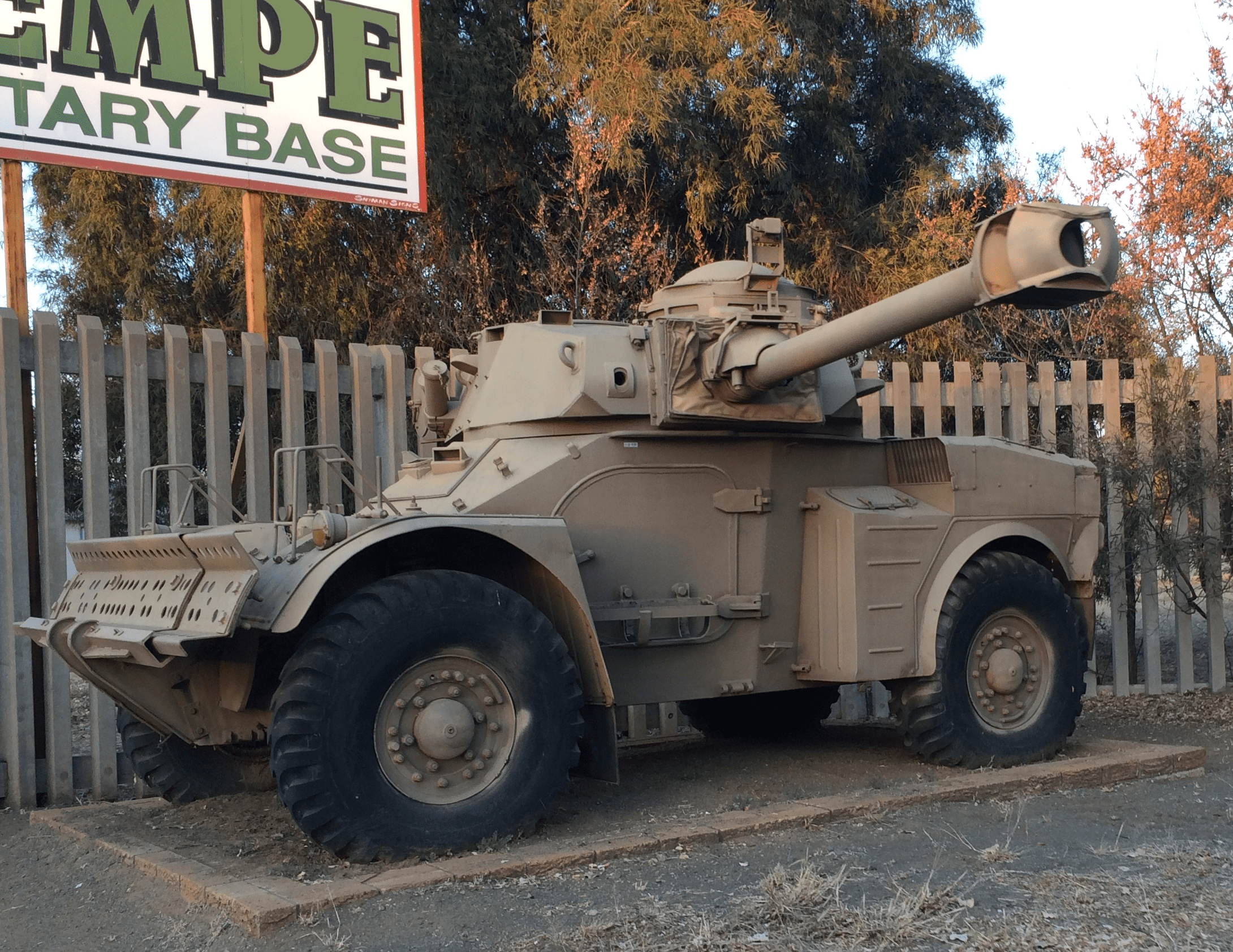 This South African Eland Mk7 armored car is an example of a reconnaissance vehicle. The 4X4 wheeled layout and minimal armor allow this armored car to maneuver rapidly and perform reconnaissance, while the 90mm gun can be used to engage targets of opportunity.