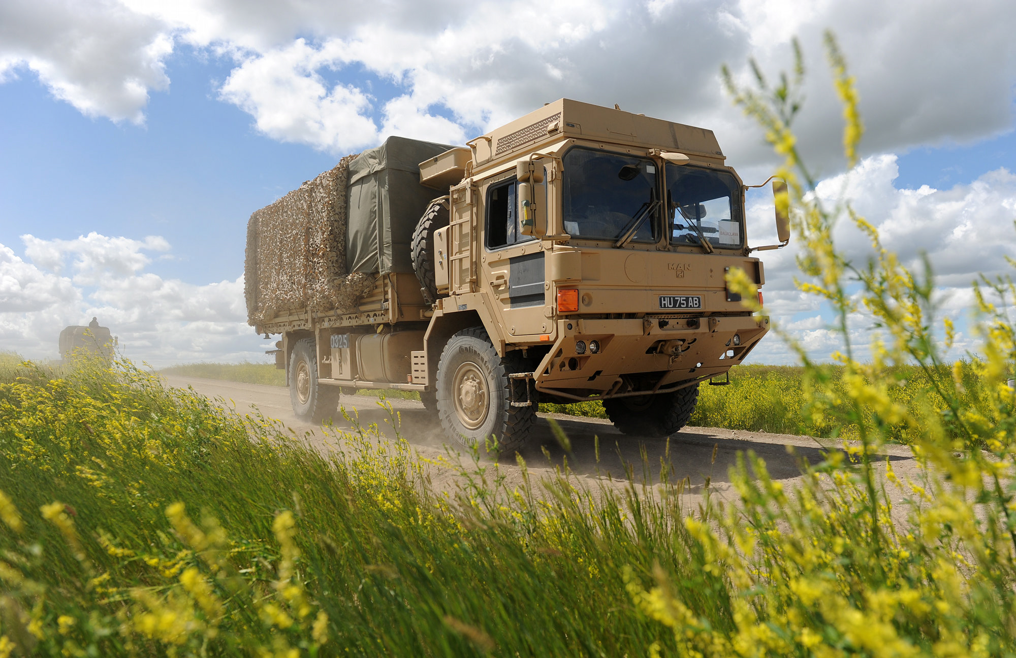 This German MAN SV truck is built to carry battlefield logistics and supplies.