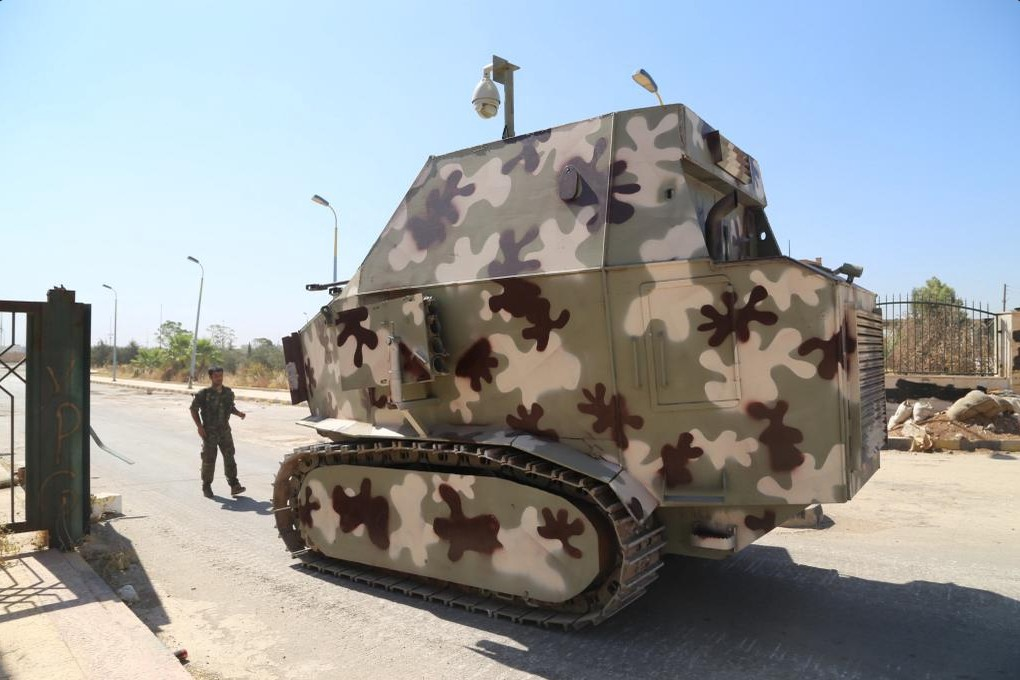 "A Kurdish ""tank."" Note the CCTV camera on top. Image from Twitter."