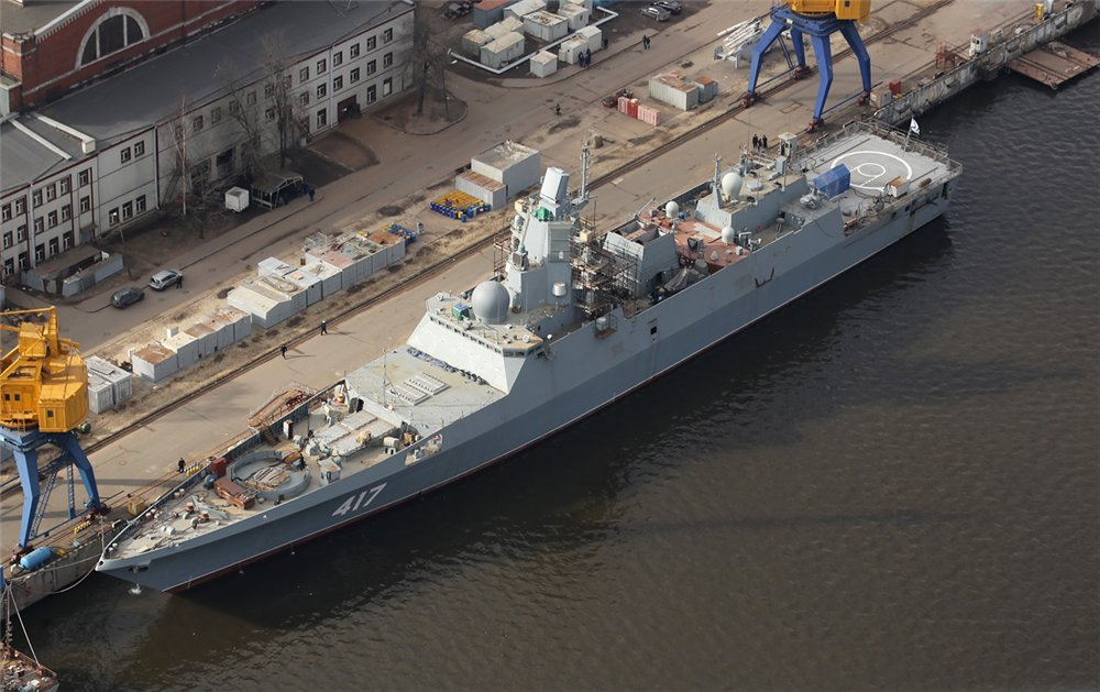 A Grigorovich-class vessel under construction. Image source.