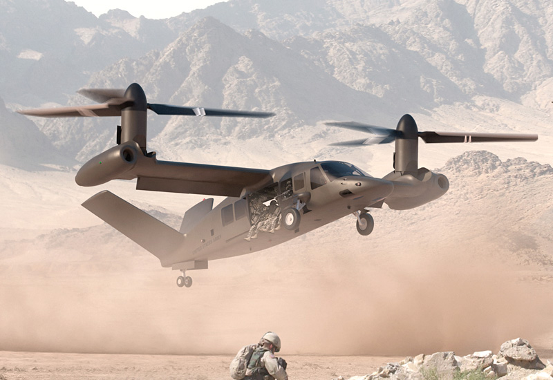 An artist's impression of the V-280 Valor. Copyright Bell.