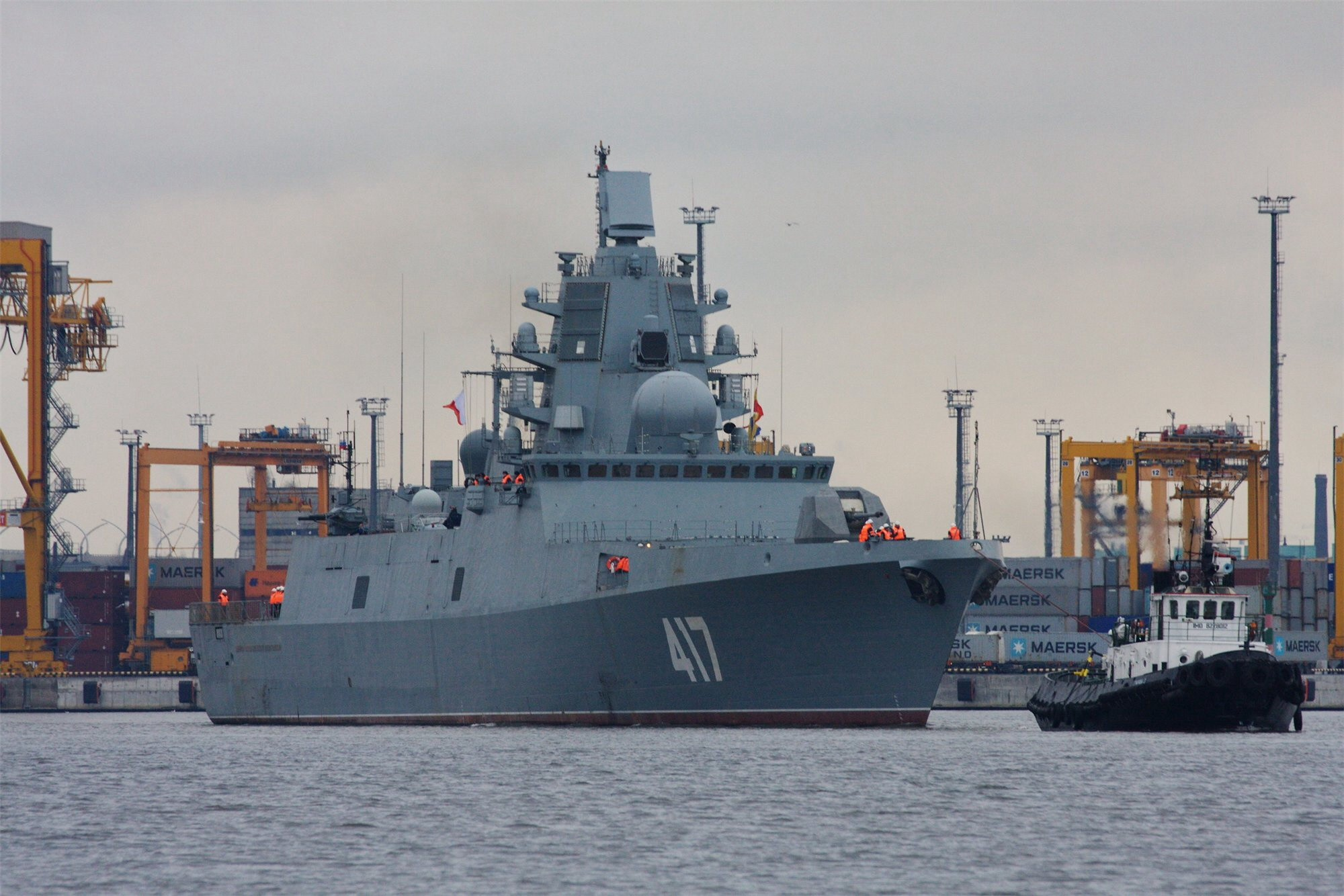 A Gorshkov-class guided missile frigate. Image credit: Jakarta Greater.