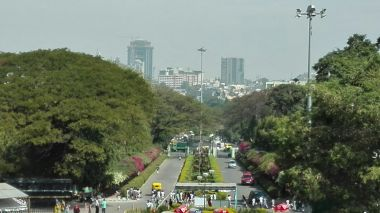 view from Lalbagh Botanical Garden
