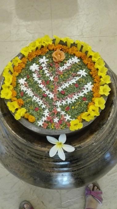 Water flower decorations aka Rangoli