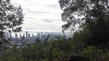 Hike up Penang Hill - view of George Town midway up