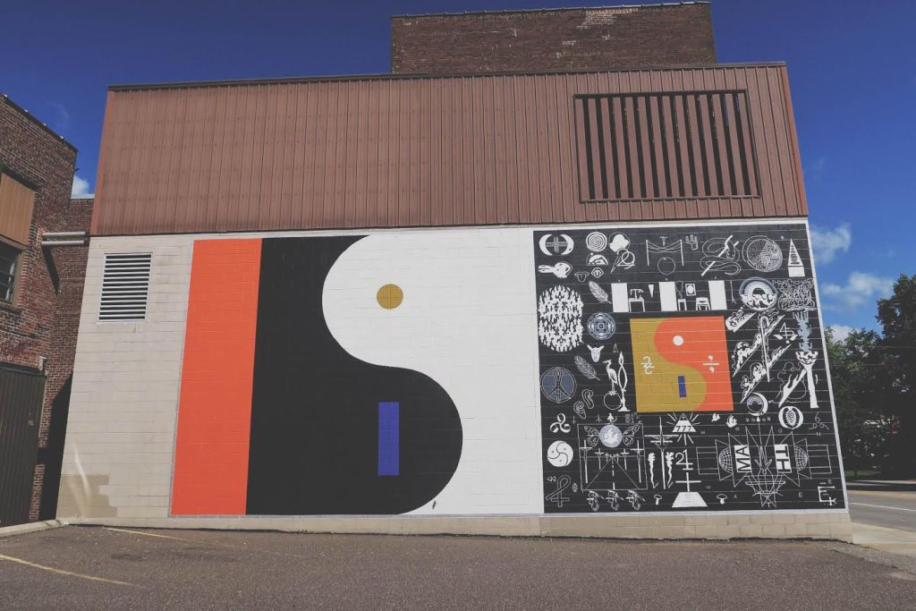 I wanted to capture a shot of this before leaving town, a mural put up over the weekend for bon iver's new album. this is downtown by the state theater for anyone interested.