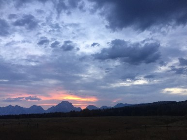 sunset near the bison