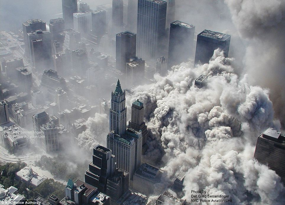 September 11, 2 towers collapsed