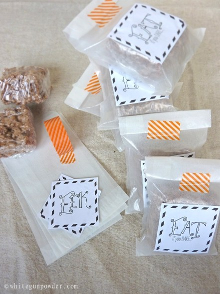 Halloween treat bags ~ free printables