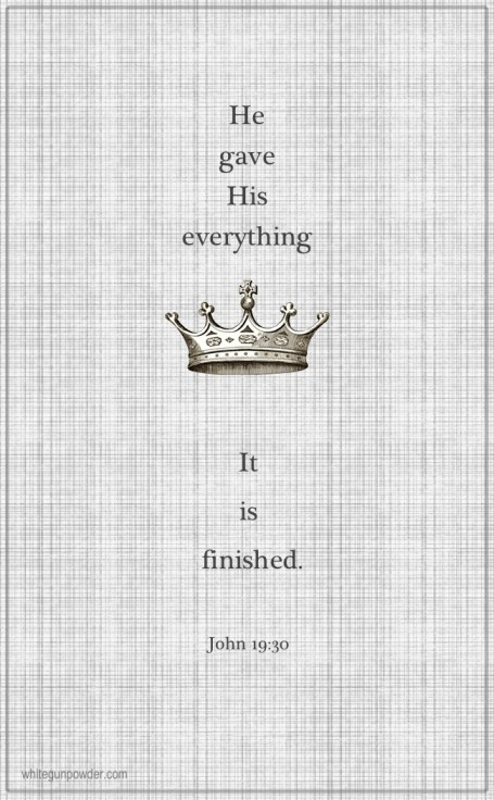 Easter, It is finished John 19:30