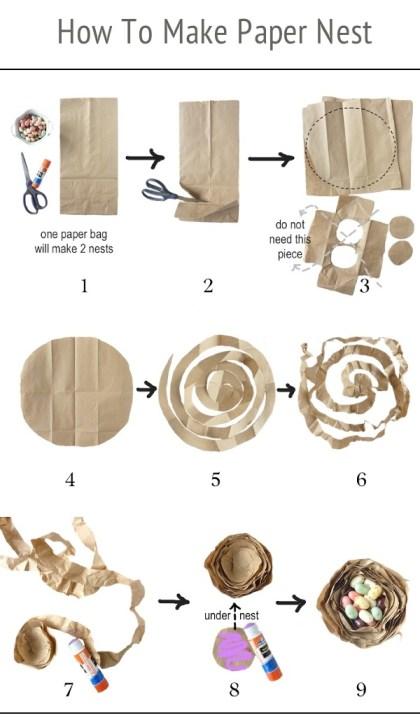 diy paper nest