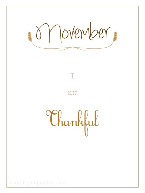 November, I am Thankful