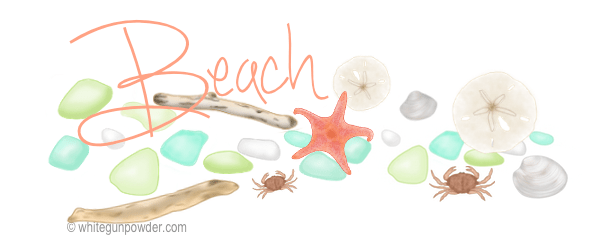 Beach illustrations KS
